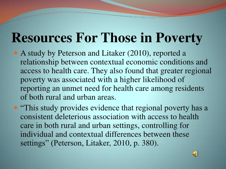 Resources For Those in Poverty