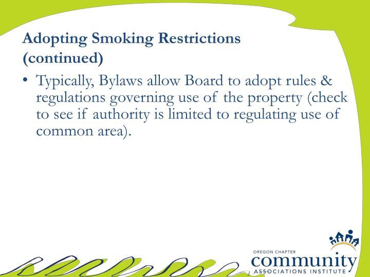 Adopting Smoking