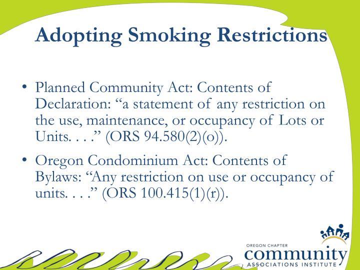 Adopting Smoking Restrictions