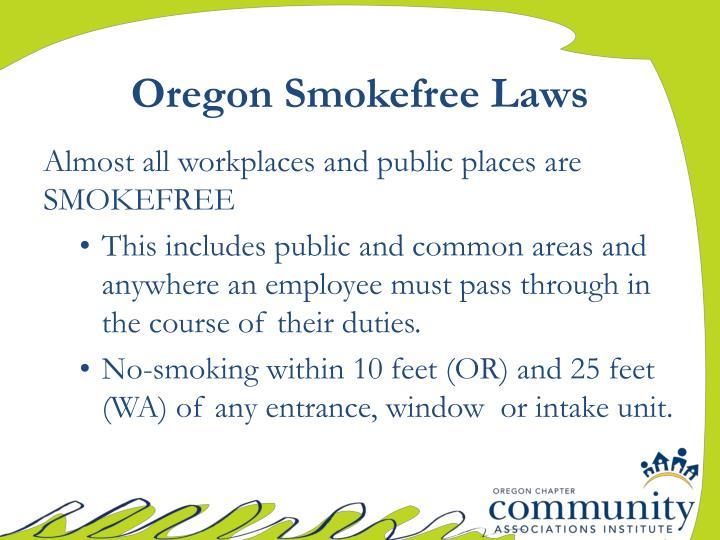 Oregon Smokefree Laws