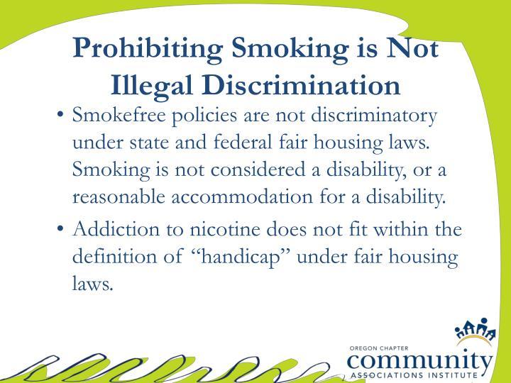Prohibiting