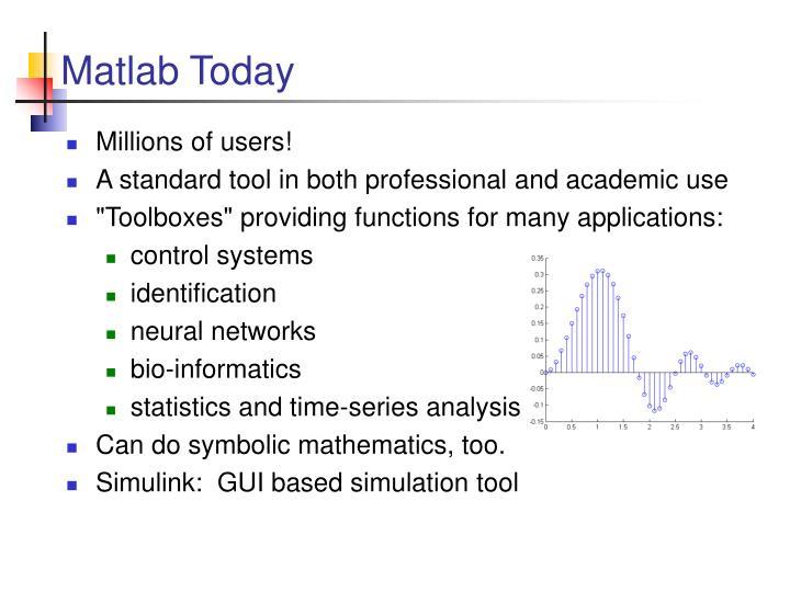 Matlab Today