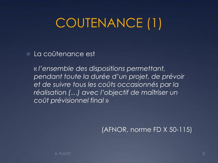 Coutenance 1