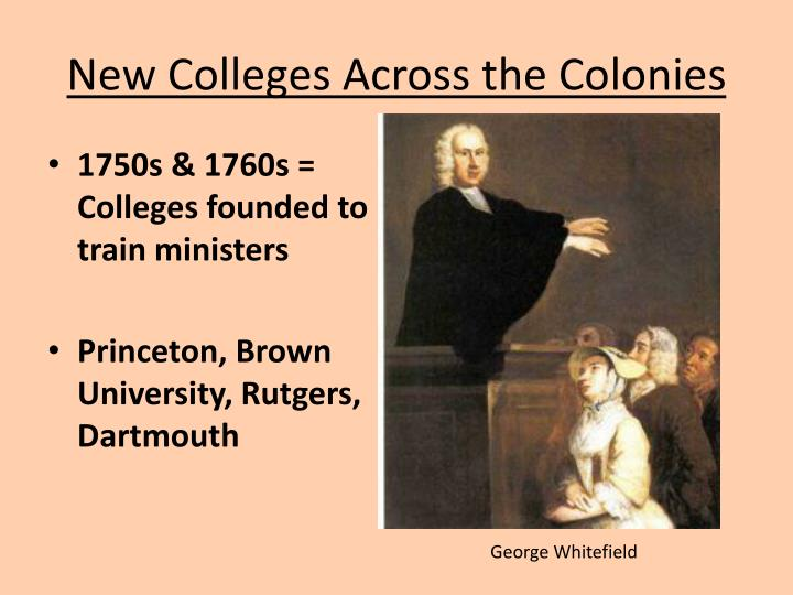 New Colleges Across the Colonies