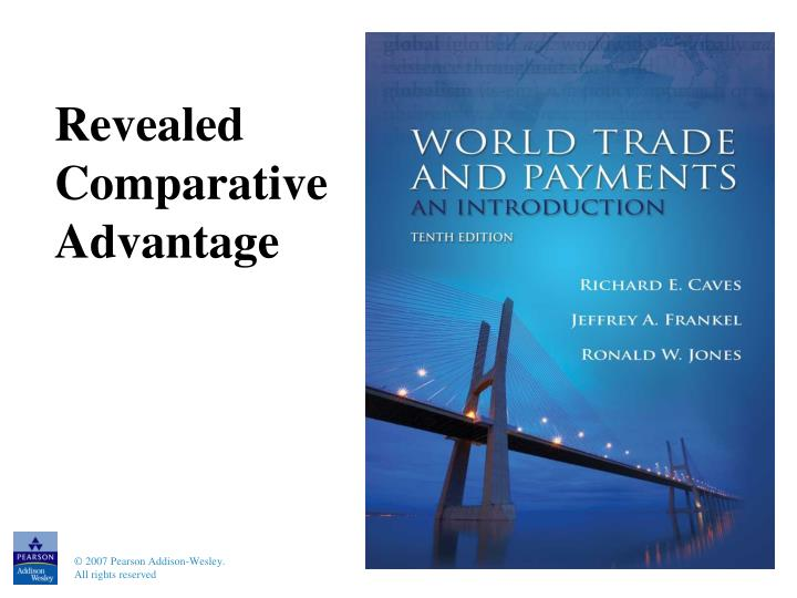 Revealed comparative advantage