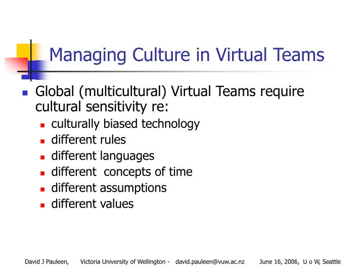 managing cultural differences across virtual teams The need for managing culturally diverseexperts share strategies on managing cultural differences managing cultural differences in remote teams virtual teams.