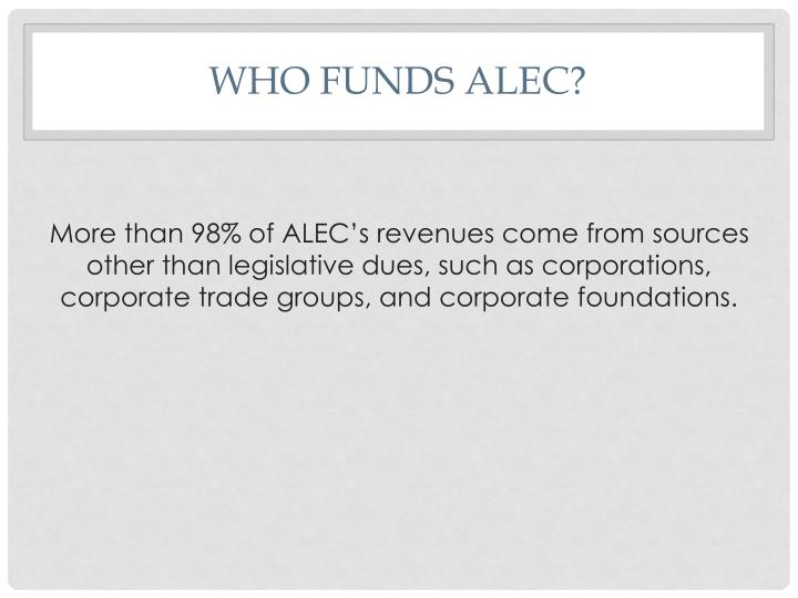 Who funds alec1