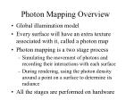 photon mapping overview