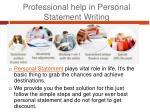 professional help in personal statement writing