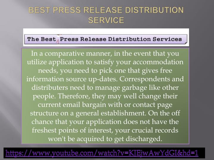 Press release writing and distribution service usa