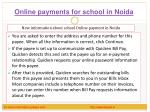 online payments for school in noida