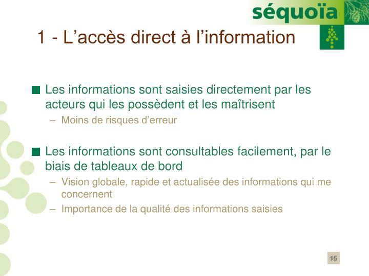 1 - L'accès direct à l'information