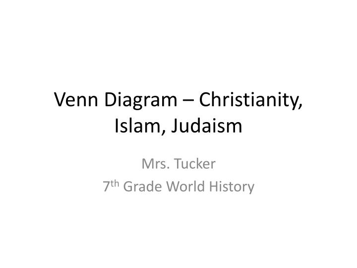 PPT Venn Diagram Christianity Islam Judaism PowerPoint