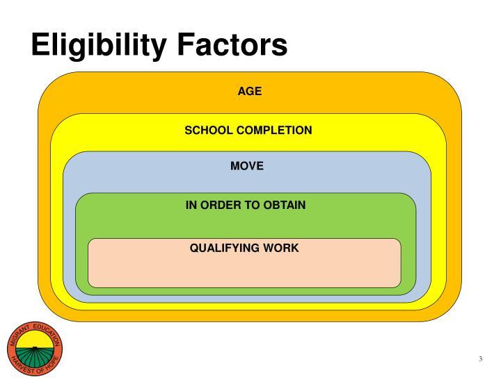 Eligibility factors