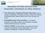 association of public and land grant universities commission on urban initiatives