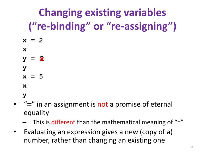 Changing existing variables