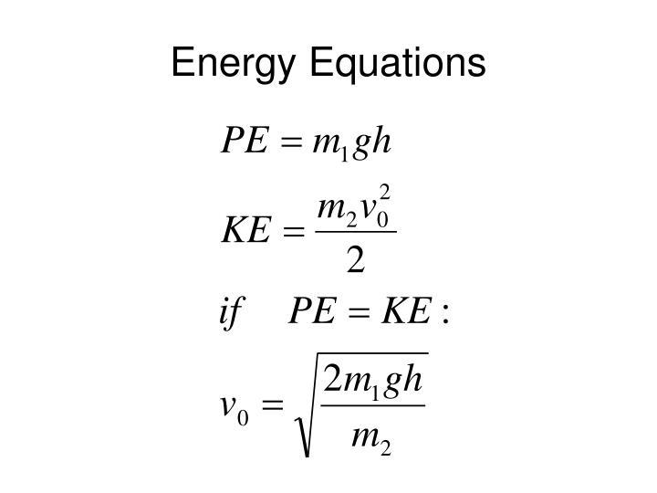Energy Equations