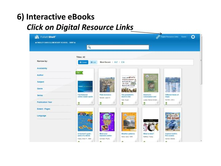 6) Interactive eBooks