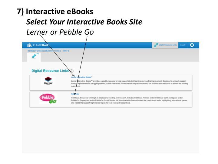 7) Interactive eBooks