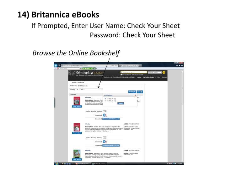 14) Britannica eBooks