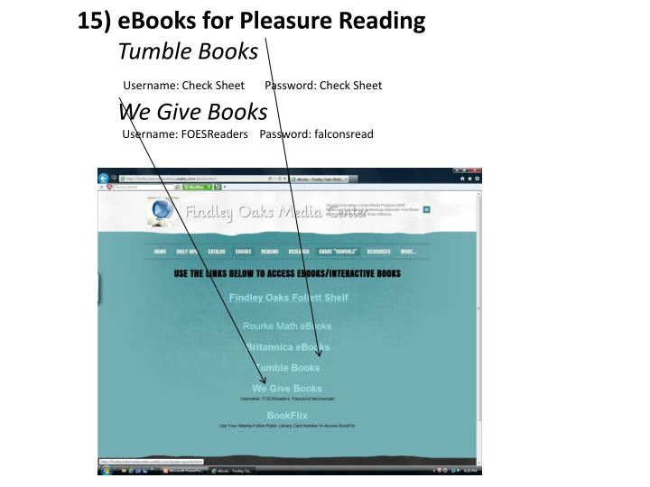 15) eBooks for Pleasure Reading