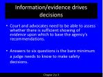 information evidence drives decisions