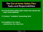 the out of home safety plan tasks and responsibilities