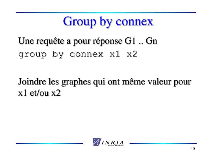 Group by connex