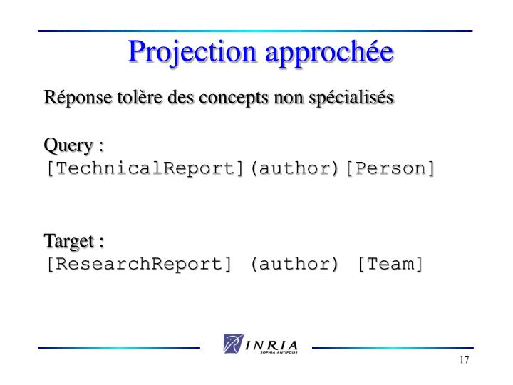 Projection approch