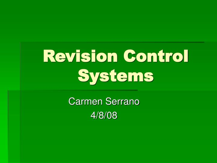 revision control systems n.