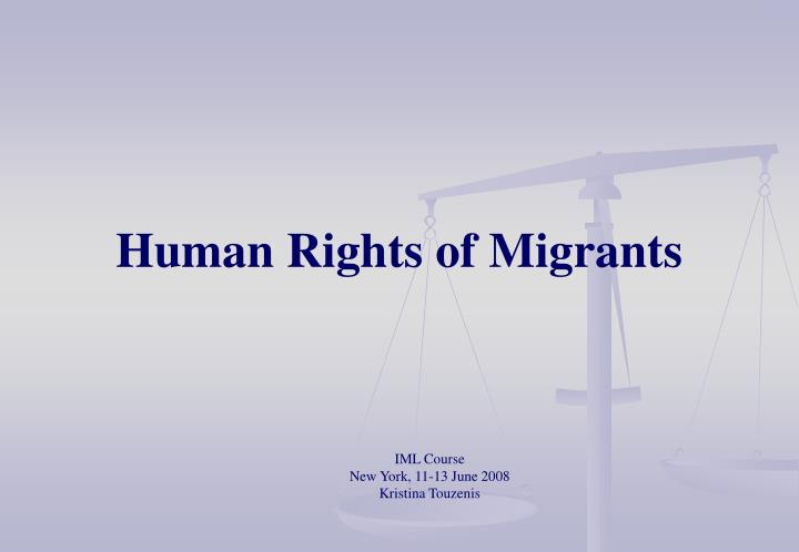 human rights of migrants n.