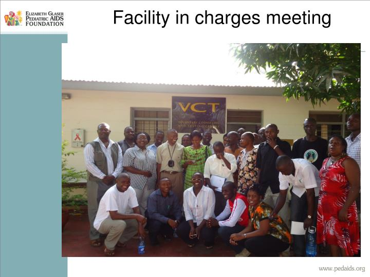 Facility in charges meeting