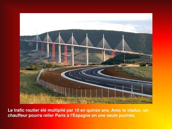 Le trafic routier élé multiplié par 10 en quinze ans. Avec le viaduc, un chauffeur pourra relier Paris à l'Espagne en une seule journée.