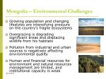 mongolia environmental challenges