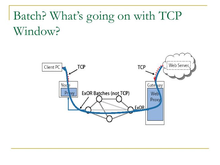 Batch? What's going on with TCP Window?