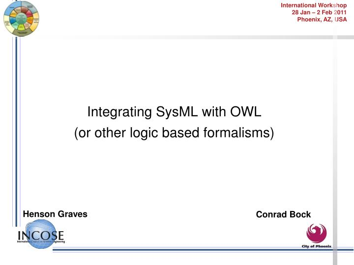 Integrating SysML with OWL