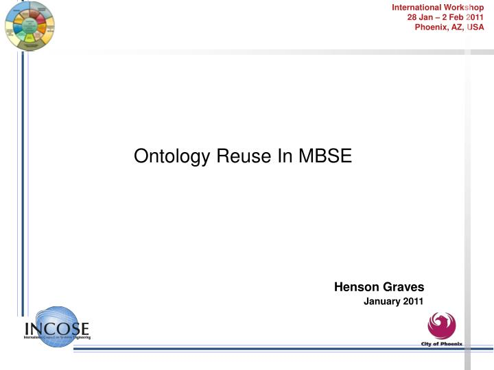 Ontology Reuse In MBSE