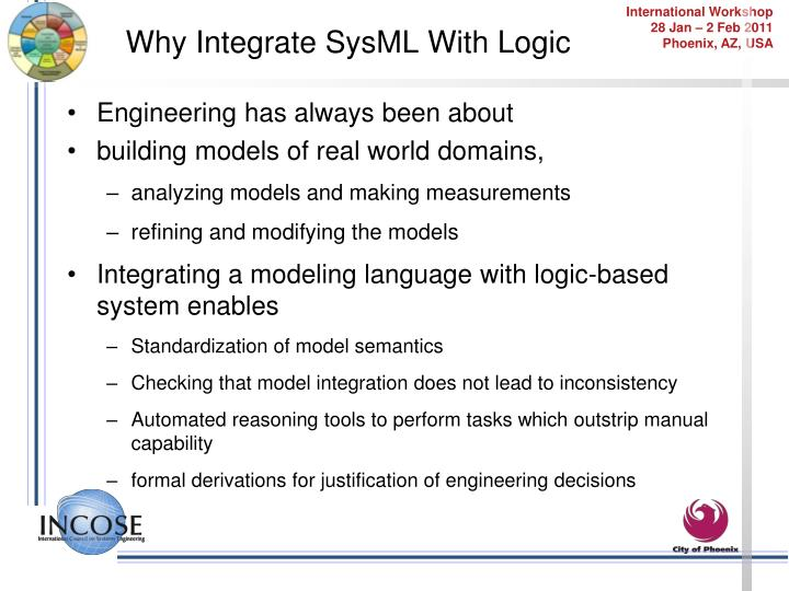Why Integrate SysML With Logic