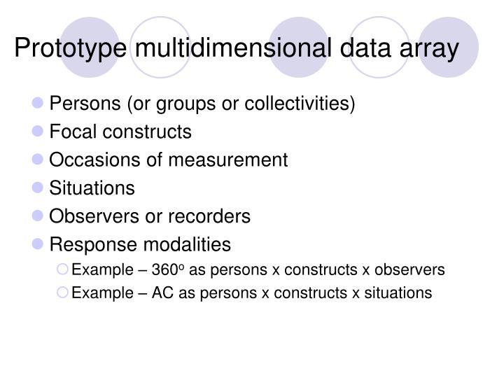 Prototype multidimensional data array