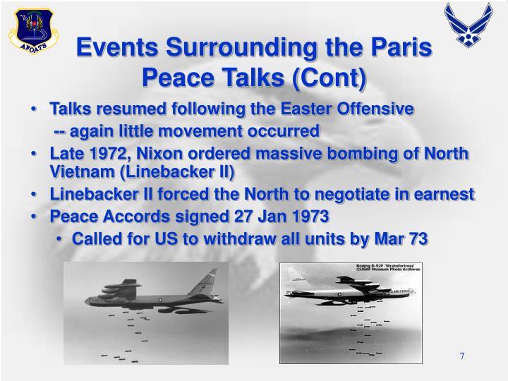 Events Surrounding the Paris Peace Talks (Cont)
