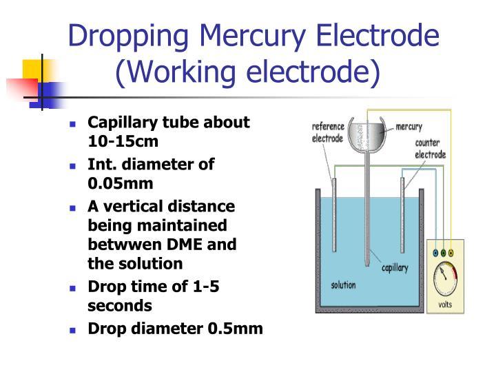 Dropping mercury electrode working electrode