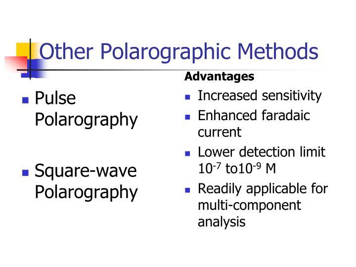 Other Polarographic Methods