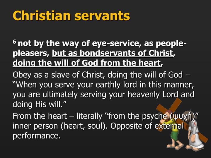Christian servants