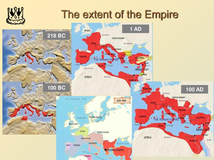 The extent of the Empire