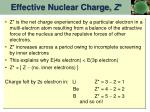 effective nuclear charge z