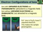 electron configurations of ions1