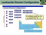 lanthanide element configuration