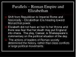 parallels roman empire and elizabethan