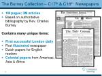 the burney collection c17 th c18 th newspapers