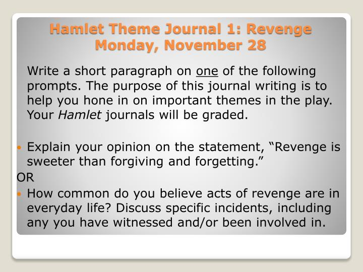how does revenge play a role in hamlet